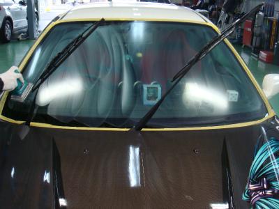 東京都羽村市M様 シビック タイプR フロントガラス G&#39ZOXハイパービュー施工 ウインドウ撥水コーティング