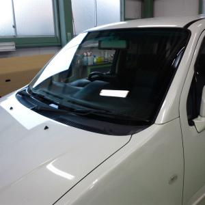 東京都羽村市 H様 車 スズキ ワゴンRソリオ ガラス交換 ガラスコーティング