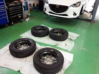 羽村市S様 弊社販売車 新車 DJ5FS デミオ クリーンディーゼル G'ZOXホイールコーティング施工
