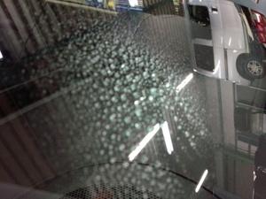 あきる野市T様 新車 NSP141 スペード G'ZOXハイパービューウインドウ撥水コーティング施工作業