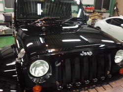 青梅市H様 Jeep ラングラー アンリミテッド G'ZOXリアルガラスコート施工
