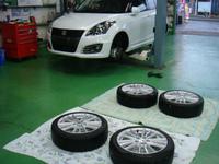 武蔵村山市S様 弊社販売車 新車 ZC32S スイフトスポーツ G'ZOXホイールコーティング施工
