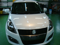 武蔵村山市S様 弊社販売車 新車 ZC32S スイフトスポーツ G'ZOXリアルガラスコート施工