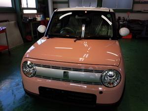 羽村市A様 新車 HE33S ラパン RMC ガラスコーティング施工