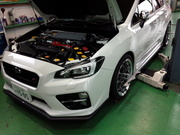 デモカーVAB WRX STI OHLINS車高調取付後 アライメント測定&調整作業