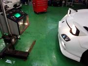 小平市K様 FD3S RX-7 ヘッドライトバルブ交換左右 光軸調整作業