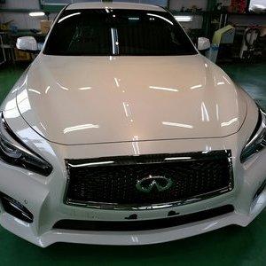 新車 HV37 SKYLINE HYBRID G'ZOXリアルガラスコート施工