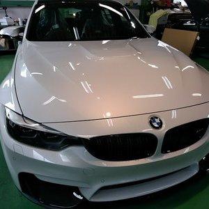Rmc NEWデモカー BMW F80 M3 LCIモデル G'ZOXリアルガラスコート施工 下地研磨