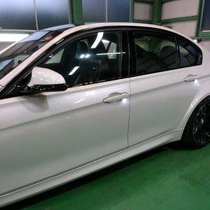 Rmc NEWデモカー BMW F80 M3 LCIモデル サイド リヤ専用ウインドウ撥水コーティング施工