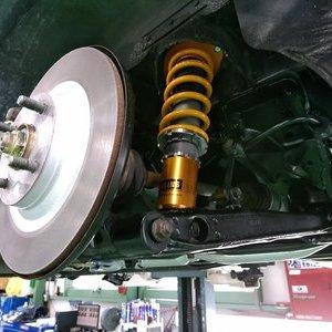 Rmcデモカー3代目NA8Cロードスター OHLINS DFV HAL 車高調コンプリートキット 取付