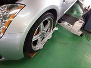 昭島市H様 Z33 フェアレディZ TEIN MONO SPORT 車高調キット取付後 アライメント測定&調整作業