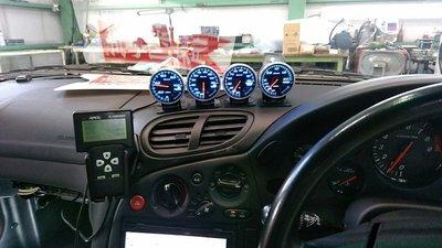 府中市N様 弊社販売車FD3S RX-7 Defi ADVANCE BF ブースト計 水温計 油温計 油圧計 コントロールユニット取付