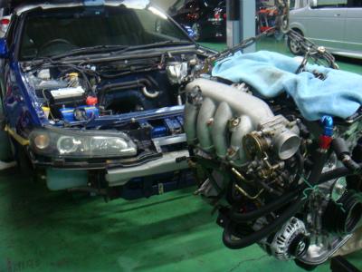 羽村市 Rmc ニッサン シルビア S15 SR20DET エンジン搭載作業