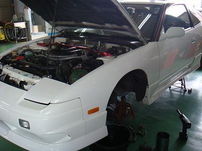 180SX フロントブレーキキャリパ OH