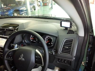 東京都練馬区N様 弊社販売車 新車 三菱 RVR 4WD YUPITERU 指定店モデルレーダー探知機 Z250Csd OBD2カプラー取付