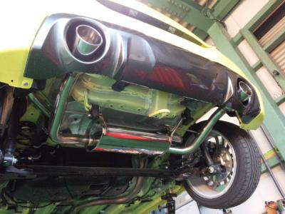 東京都小平市O様 弊社販売車 スイフトスポーツ ホイール交換 G&#39ZOX ホイールコート 施工