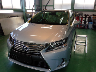 東京都福生市K様 新車 レクサス HS G&#39ZOXハイパービュー ウインドウhassui