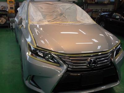 東京都福生市K様 新車 レクサス HS G&#39ZOXリアルガラスコート施工作業