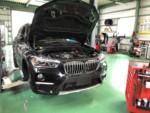 青梅市Y様弊社販売車BMWF48X1 XDrive 18d XLINE 車検整備作業!