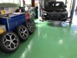 青梅市Y様弊社販売車BMW F48 X1 Xdrive 18d XLINE G'ZOXホイールコーティング施工作業❗️