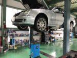 羽村市N様W211MベンツE350車検整備作業!エンジンオイル交換
