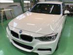 昭島市T様BMW F30 320i 新規のお客様 G'ZOXハイパービューウィンドウ撥水コーティング施工作業❗️