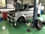 日高市K様JB43Wジムニーシエラオイル交換、スタッドレスタイヤ履き替え、スズキ無料点検実施しました❗️