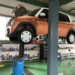羽村市S様HE33SLapin新車無料6ヶ月点検&エンジンオイル交換作業‼️
