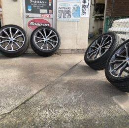 デモカーBMW G01X3Xdrive20dM sport 夏タイヤ20インチホイール洗浄しておきます‼️