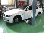 檜原村T様BMW E92 M3クーペ タイヤ交換作業‼️