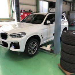 BMWG01X3Xdrive20dMsport スタッドレスタイヤ→夏タイヤに履き替え作業‼️(株)RMCデモカーBMWG01X3
