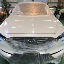 MAZDA KG2P CX-8 G'ZOXリアルガラスコート施工作業 新車の KG2P CX-8 羽村市S様