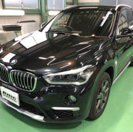 BMWF48X1Xdrive18d XLINE G'ZOXリアルガラスコート施工作業完了❗️青梅市Y様BMWF48X1Xdrive18d XLINE G'ZOXリアルガラスコート部分施工作業