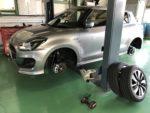 SUZUKI ZD53SSWIFT新車無料1カ月点検 スタッドレスタイヤ→夏タイヤ履き替え作業‼️飯能市N様SUZUKI ZD53SSWIFT