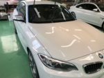 BMW F22M235クーペG'ZOXハイパービューウィンドウ撥水コーティング施工作業‼️長野県Y様弊社販売車🚗BMW F22M235クーペ