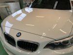 BMWF22M235iクーペHi-MOHS COAT THE GLOWハイエンドガラスコーティング施工作業完了‼️長野県Y様弊社販売車🚗BMWF22M235iクーペ