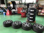 BMWF22M235iクーペ法定12ヶ月点検整備タイヤ交換作業❗️MICHELIN Pilot sport 4 225/40R18 245/35R18新品4本交換