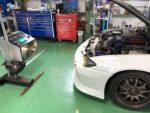 NISSANS15シルビアオーテックバージョン車検整備作業❗️ヘッドライトの光軸測定&調整作業❗️