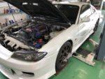 NISSANS15シルビアオーテックバージョン車検整備作業❗️アライメント測定&調整作業❗️昭島市I様S15シルビアオーテックバージョン
