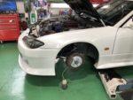 NISSANS15シルビアオーテックバージョン車検整備作業❗️ブレーキフルード交換