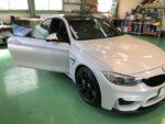 BMWF82M4 6MT シルフィード断熱フィルム施工❗️カーフィルム施工作業❗️