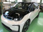 BMW I01 i3 SUITE G'ZOXハイパービューウィンドウ撥水コーティング施工作業❗️BMW i3 EV車