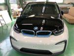 BMW I01 i3 Hi-MOHS COAT THE GLOWハイエンド超膜厚超撥水ガラスコーティング施工❗️羽村市RMCBMWI01i3SUITEEV車🚗