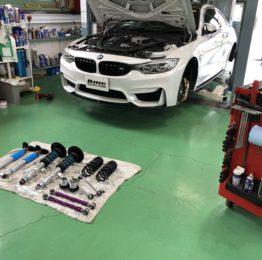 BMW F82M4 6MT 車高調取付 ビルシュタイン クラブスポーツ KW レーンコントロールアームも取付します❗️BILSTEIN CS 車高調 KW リヤlcアーム