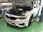 BMW F82M4 6MT アライメント測定&調整❗️羽村市RMC BMW F82M4 6MT 車高調取付作業