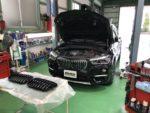 BMWF48X1 Mperformanceparts ブラックキドニーグリル取付❗️青梅市Y様 BMWF48X1Xdrive18dXline