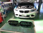 BMWF87M2クーペ Mperformancepartブラックキドニーグリル取付❗️武蔵村山市K様 BMWF87M2クーペ