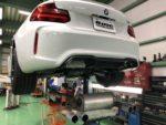 BMWF87M2クーペ AKRAPOVIC EVOLUTIONLINE チタンマフラー取付❗️武蔵村山市K様 BMWF87M2クーペ