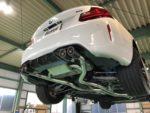 BMWF87M2クーペ AKRAPOVIC アクラポビッチエボリューションラインマフラー取付❗️武蔵村山市K様 BMWF87M2クーペ