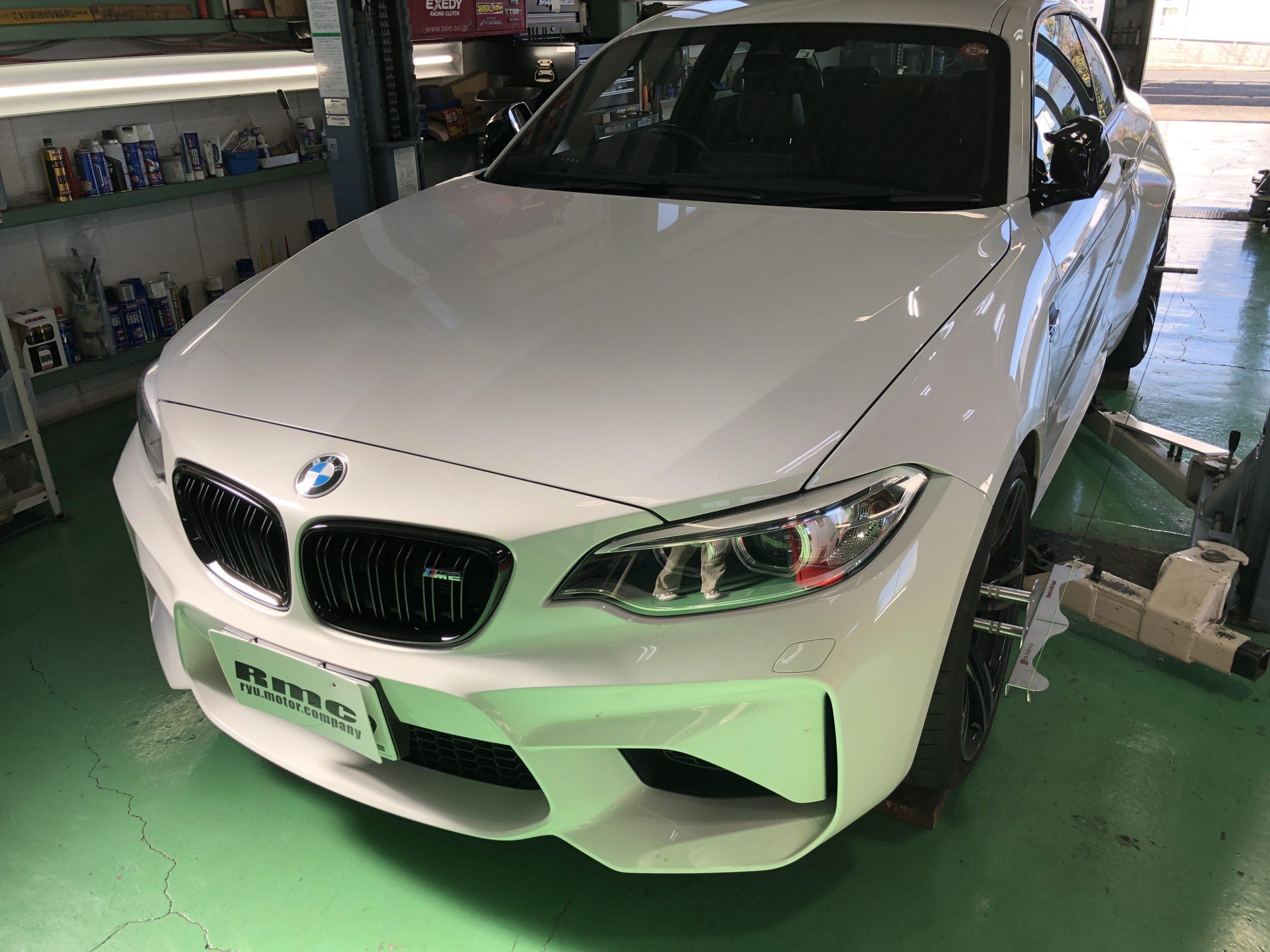 BMWF87M2クーペ BILSTEIN B16 車高調取付後アライメント測定&調整❗️武蔵村山市K様 BMWF87M2クーペ
